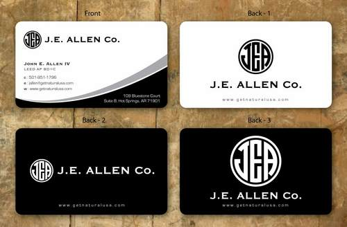 J.E. Allen Company Business Cards and Stationery  Draft # 133 by namgraphics