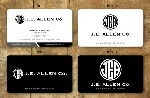 J.E. Allen Company Business Cards and Stationery  Draft # 135 by namgraphics