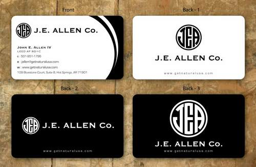 J.E. Allen Company Business Cards and Stationery  Draft # 136 by namgraphics