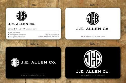 J.E. Allen Company Business Cards and Stationery  Draft # 137 by namgraphics