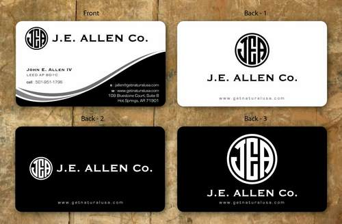 J.E. Allen Company Business Cards and Stationery  Draft # 139 by namgraphics