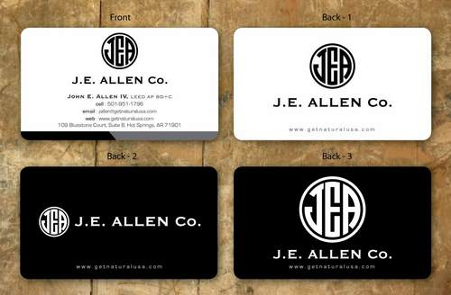 J.E. Allen Company Business Cards and Stationery  Draft # 138 by namgraphics