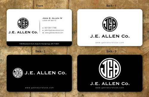 J.E. Allen Company Business Cards and Stationery  Draft # 140 by namgraphics