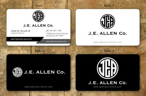 J.E. Allen Company Business Cards and Stationery  Draft # 144 by namgraphics