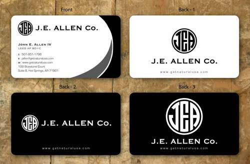 J.E. Allen Company Business Cards and Stationery  Draft # 145 by namgraphics