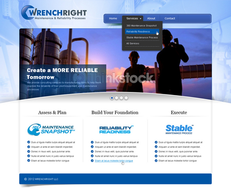 WRENCHRIGHT Complete Web Design Solution  Draft # 115 by mbmkdesigns