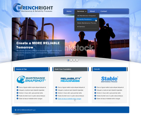 WRENCHRIGHT Complete Web Design Solution  Draft # 118 by mbmkdesigns
