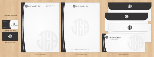 J.E. Allen Company Business Cards and Stationery  Draft # 414 by Deck86