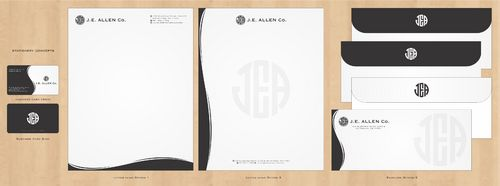 J.E. Allen Company Business Cards and Stationery  Draft # 415 by Deck86