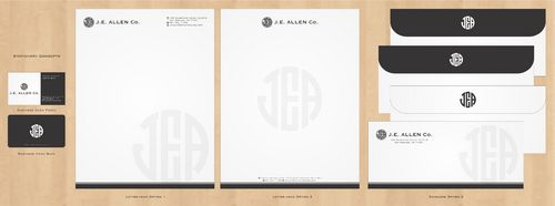 J.E. Allen Company Business Cards and Stationery  Draft # 416 by Deck86