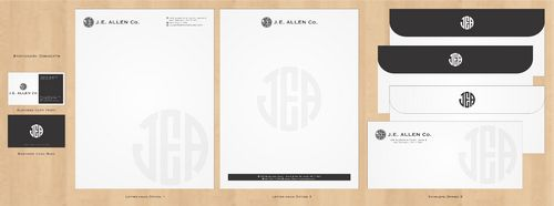 J.E. Allen Company Business Cards and Stationery  Draft # 417 by Deck86