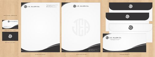 J.E. Allen Company Business Cards and Stationery  Draft # 419 by Deck86