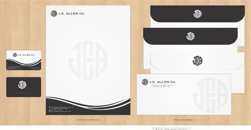 J.E. Allen Company Business Cards and Stationery  Draft # 420 by Deck86