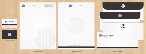 J.E. Allen Company Business Cards and Stationery  Draft # 422 by Deck86