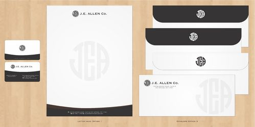 J.E. Allen Company Business Cards and Stationery  Draft # 423 by Deck86