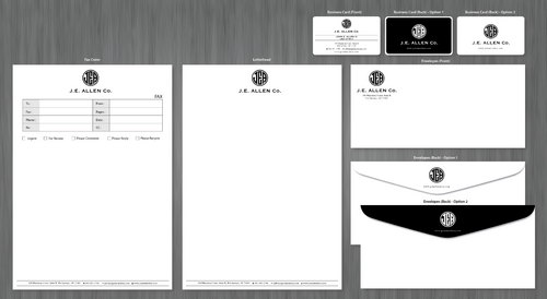 J.E. Allen Company Business Cards and Stationery  Draft # 425 by ArtworksKingdom