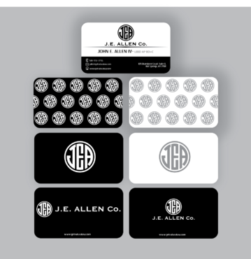 J.E. Allen Company Business Cards and Stationery  Draft # 428 by kenjie0476
