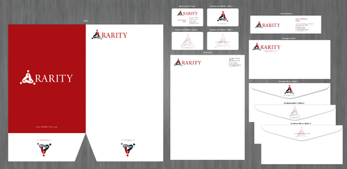 Rarity Solutions Business Cards and Stationery  Draft # 206 by ArtworksKingdom