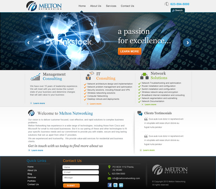 Melton Networking Complete Web Design Solution  Draft # 39 by jogdesigner