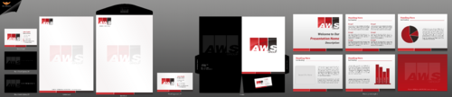 Business cards, Letterhead, Envelope, PowerPoint Presentation, Email Signature design for a group of