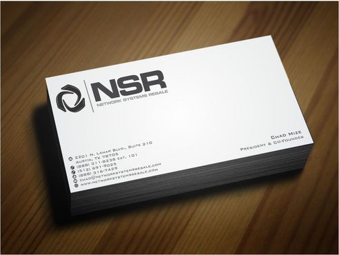 simple, straightforward card Business Cards and Stationery  Draft # 237 by Deck86