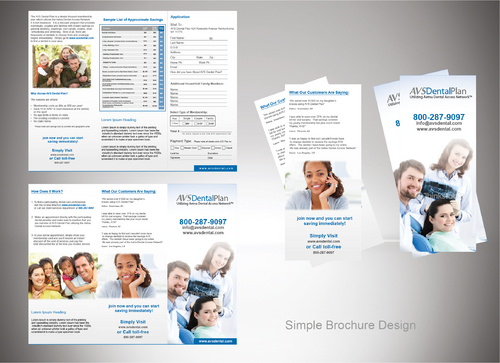 Tri-fold discount dental plan brochure Marketing collateral  Draft # 3 by sevensky