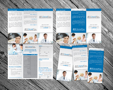 Tri-fold discount dental plan brochure Marketing collateral  Draft # 4 by 7starDesign