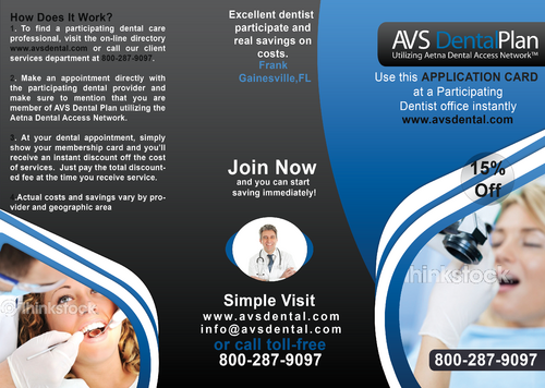 Tri-fold discount dental plan brochure Marketing collateral  Draft # 13 by aks231091