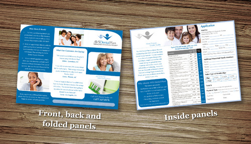 Tri-fold discount dental plan brochure Marketing collateral  Draft # 21 by splashdesigns