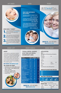 Tri-fold discount dental plan brochure Marketing collateral  Draft # 24 by destudio