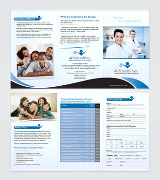 Tri-fold discount dental plan brochure Marketing collateral  Draft # 32 by creativein