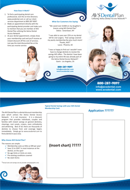 Tri-fold discount dental plan brochure Marketing collateral  Draft # 33 by empat