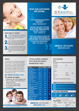 Tri-fold discount dental plan brochure Marketing collateral  Draft # 34 by destudio