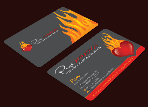 Business cards for a dating coachsocial dynamics company by rtuch pure attraction business cards and stationery draft 135 by waterdropdesign colourmoves