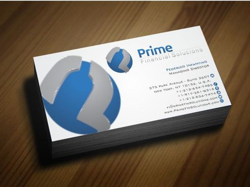 Prime Financial Solutions Business Cards and Stationery  Draft # 180 by Deck86