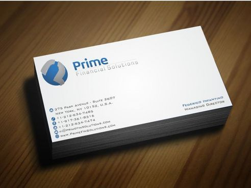 Prime Financial Solutions Business Cards and Stationery  Draft # 182 by Deck86