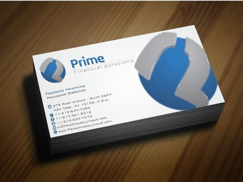 Prime Financial Solutions Business Cards and Stationery  Draft # 184 by Deck86