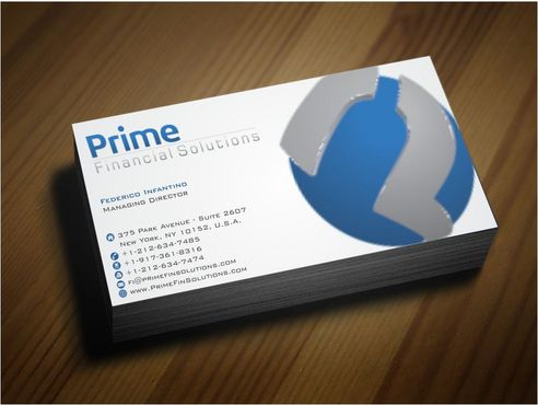 Prime Financial Solutions Business Cards and Stationery  Draft # 185 by Deck86