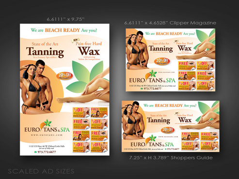 Tanning and Waxing layout offers