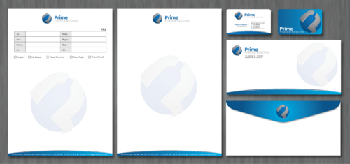Prime Financial Solutions Business Cards and Stationery  Draft # 229 by ArtworksKingdom