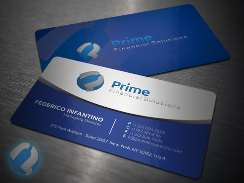 Prime Financial Solutions Business Cards and Stationery  Draft # 233 by babywolves