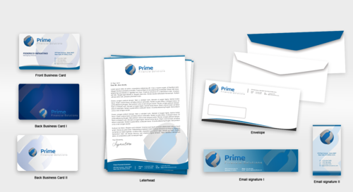 Prime Financial Solutions Business Cards and Stationery  Draft # 236 by babywolves