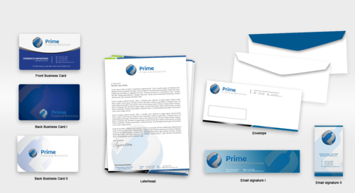Prime Financial Solutions Business Cards and Stationery  Draft # 237 by babywolves