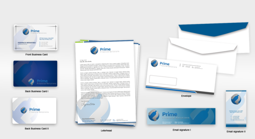 Prime Financial Solutions Business Cards and Stationery  Draft # 238 by babywolves
