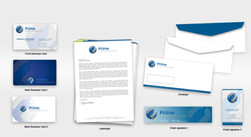 Prime Financial Solutions Business Cards and Stationery  Draft # 239 by babywolves