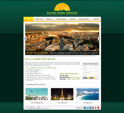 Golden Travel Services Blog Design Template Winning Design by MeGaMax3Ds2Dio