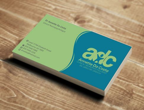 Dr Annette C Da Costa Business Cards and Stationery  Draft # 73 by Deck86