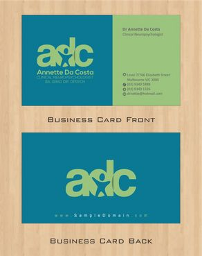 Dr Annette C Da Costa Business Cards and Stationery  Draft # 74 by Deck86
