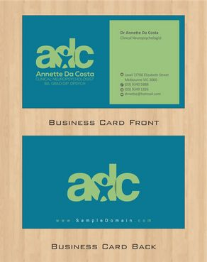 Dr Annette C Da Costa Business Cards and Stationery  Draft # 75 by Deck86