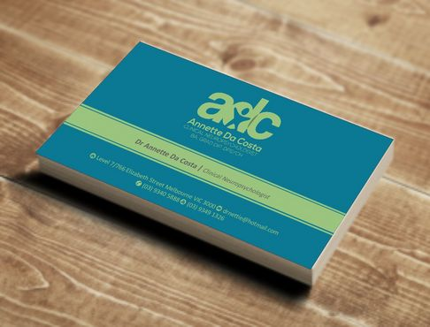 Dr Annette C Da Costa Business Cards and Stationery  Draft # 76 by Deck86